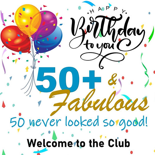 Big 50! Lawn Sign & Gift Bag