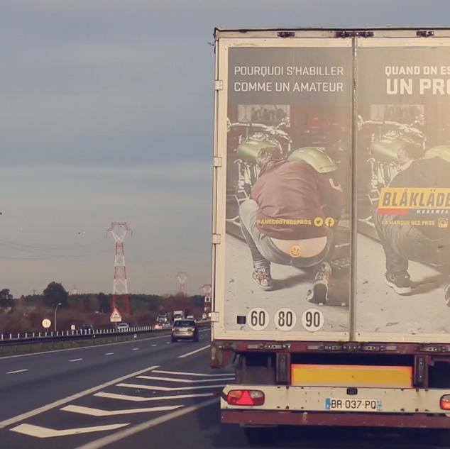 Publicité sur camions