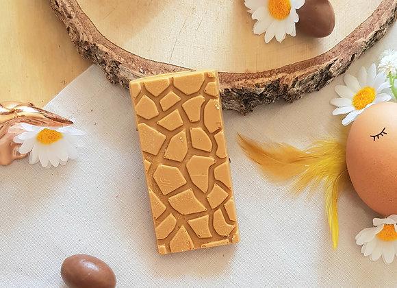 Mini Tablette de chocolat dulcey, fleur de sel, grué de cacao