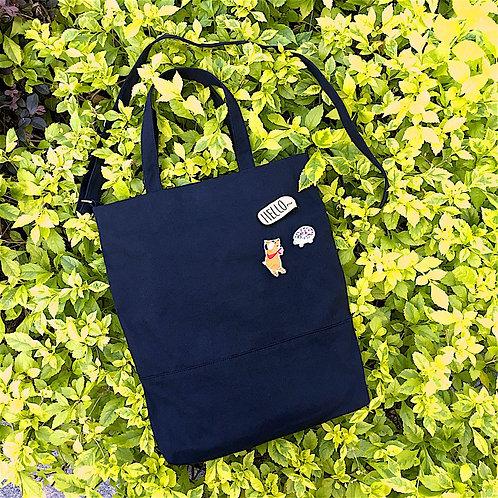 2 Ways Tote Bag (Black)