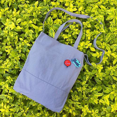 2 Ways Tote Bags  (Grey)