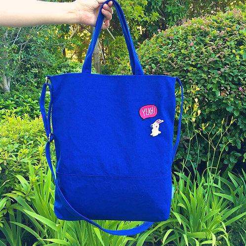 2 Ways Tote Bag (Blue)