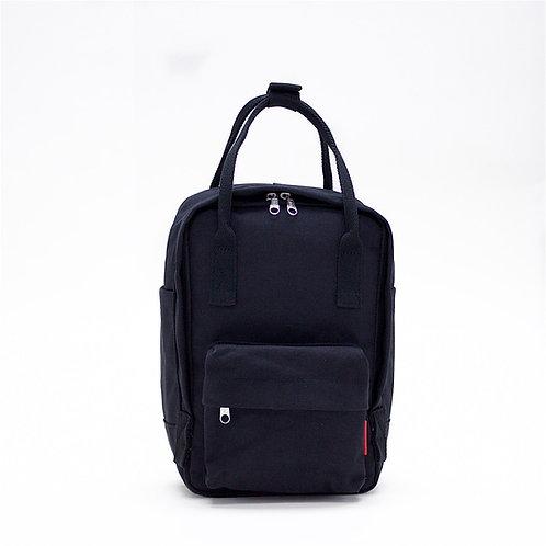 2 Ways Waterproof Canvas Mini Backpack (Black)