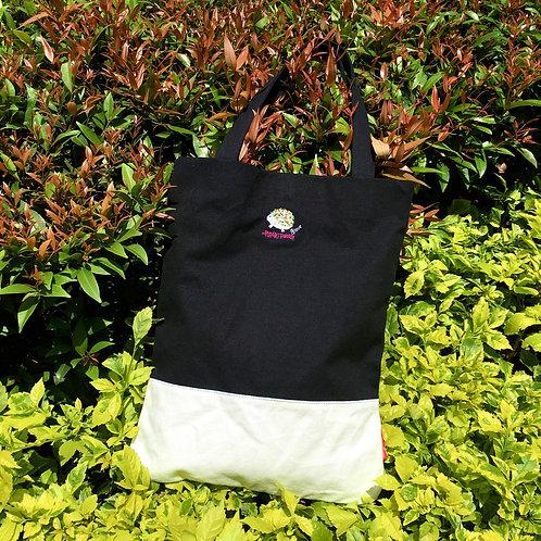 Steve Colourblock Tote Bag (Black/ White)