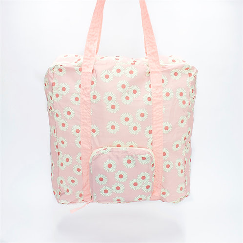 Recycled polyester foldable duffel bag (Pink)