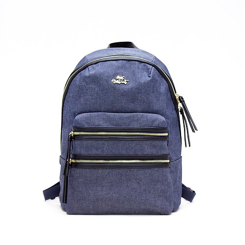 Aristocat Waterproof Heavy Denim Backpack  ( Black , Blue )