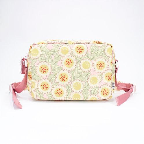 Recycled polyester floral printed cross shoulder bag(Pink)