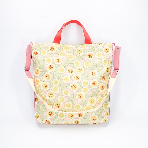 Recycled polyester printed 2 ways tote(Pink)