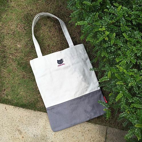 Aristocat Colourblock Tote Bag (Grey/White)