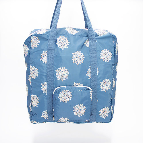 Recycled polyester foldable duffel bag (Blue)