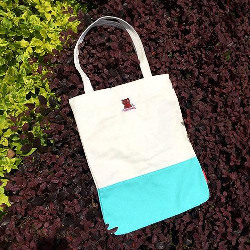 Chief Colourblock Tote Bag (Turquoise/ White)
