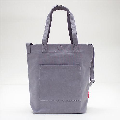 2 Ways Waterproof Tote Bag (Grey)