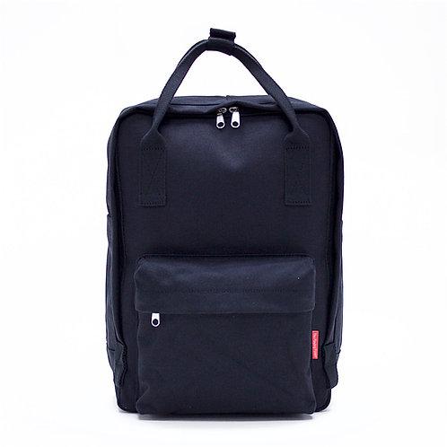 2 Ways Waterproof Canvas Backpack (Black)