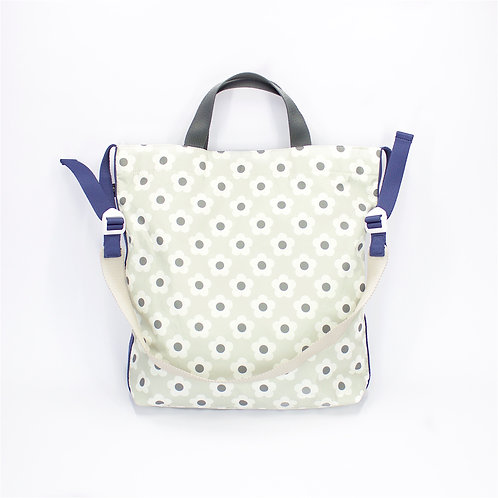 Recycled polyester printed 2 ways tote(Light Grey)