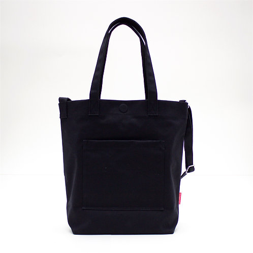 2 Ways Waterproof Tote Bag (Black)