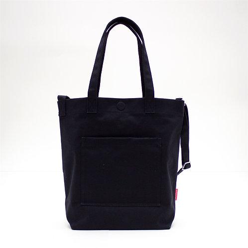 2 Ways Waterproof Tote Bag (Black)