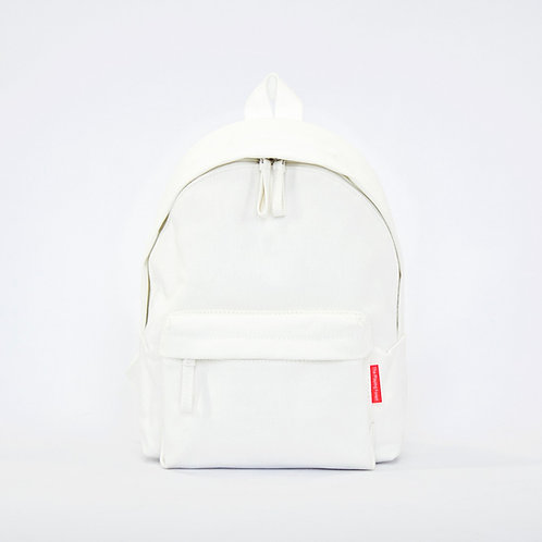 Waterproof Canvas Mini Backpack (White)