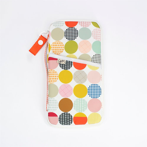 Recycled polyester printed passport organiser (Multi Color)