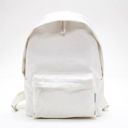 Waterproof Canvas Backpack (White)