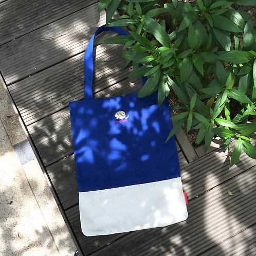 Steve Colourblock Tote Bag (Blue/ White)