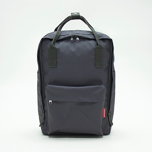 2 Ways Waterproof Backpack (Charcoal/Red)