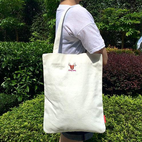 Deerly Tote Bag (White)