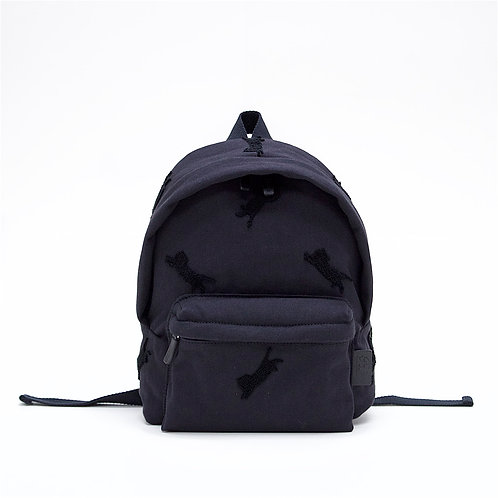 Aristocat 3D Embroidery Cotton Mini Backpack ( Black )