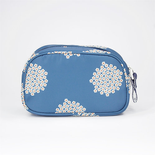 Recycled polyester printed cosmetic pouch (Blue)