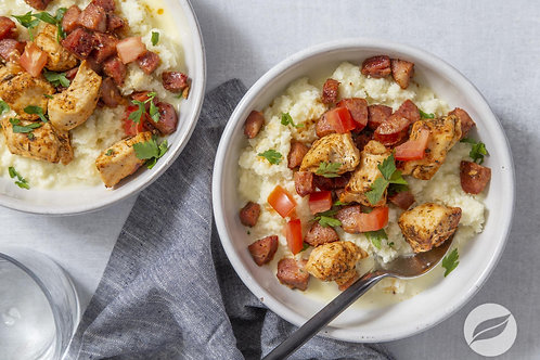 Cajun Chicken & Cauliflower Grits