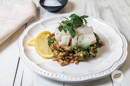 Cod with Rice & Quinoa Risotto