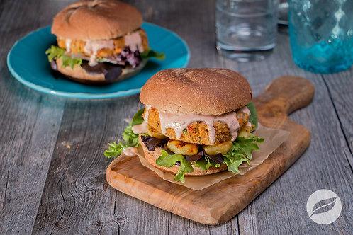 Fajita Chickpea Burgers