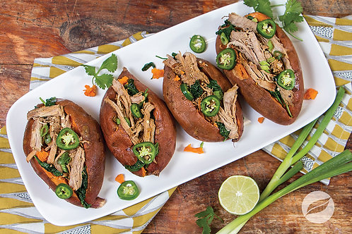 Pork Carnitas Stuffed Sweet Potatoes