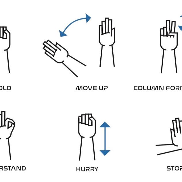 Hand Signals Sign