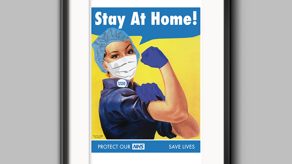 NHS Stay at home poster A3 (fundraiser)