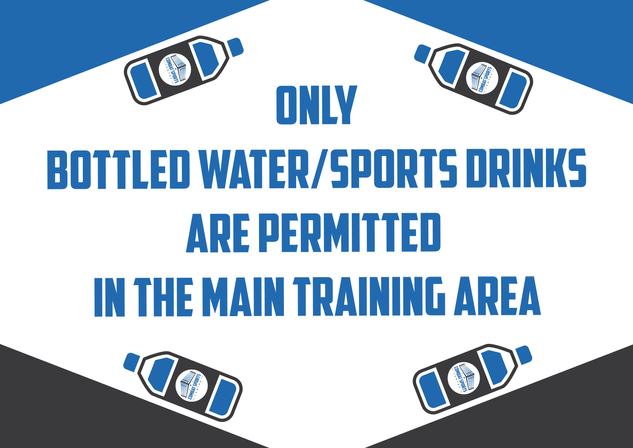 only bottled water Sign