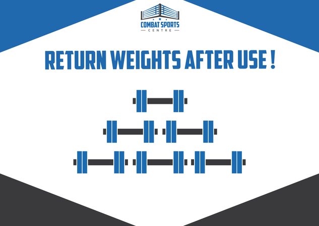 Return weights after use sign