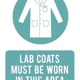 Lab Coat Sign