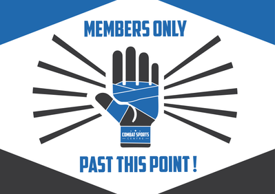 Members only past this point sign