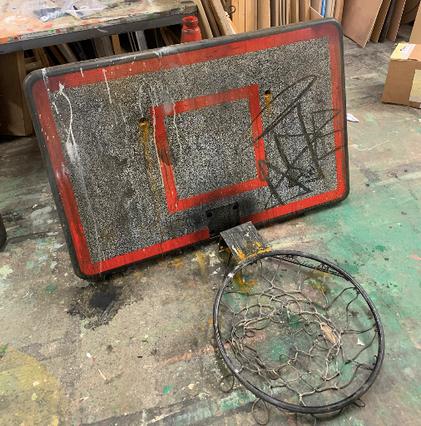 Ageing Basketball Hoop
