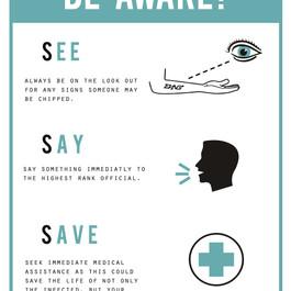 See Say Save Warning Sign