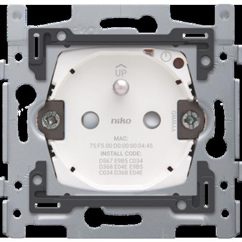 Prise de courant connectée commutable pour Niko Home Control avec broche de terr