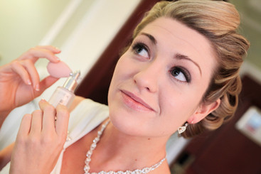 The Bride preparing for the Wedding