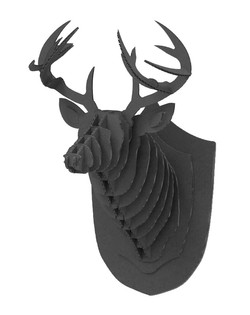 Cardboard Deer Black