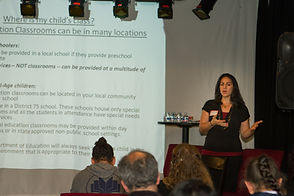 Rachel Rothman Borrero presenting on IEP services and process