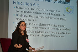 Jennifer Frankola, with Lewis Johs Avallone Aviles, LLP, speaking about Special Education Law and Rights