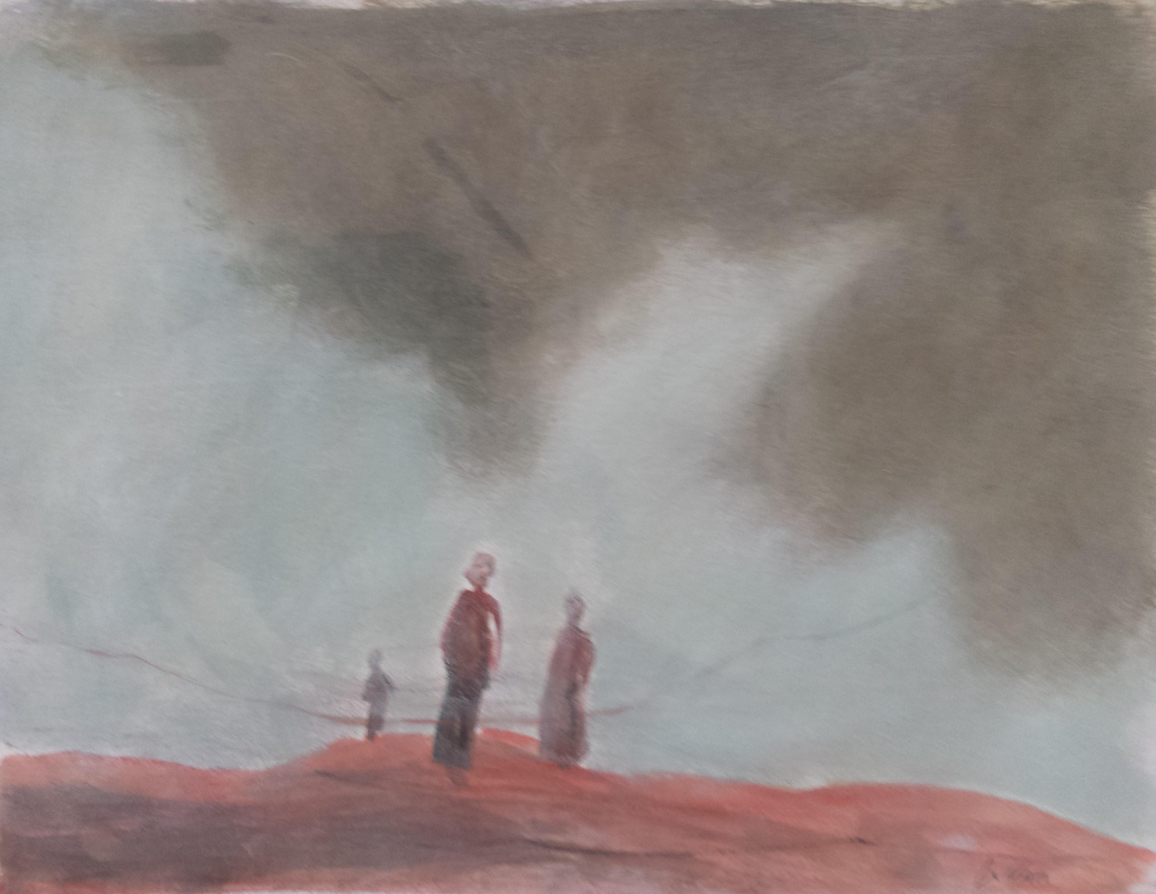 Marcheurs dans la brume 32x25