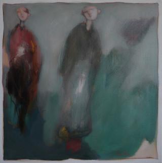 Dans le soir bleuté (50x50)