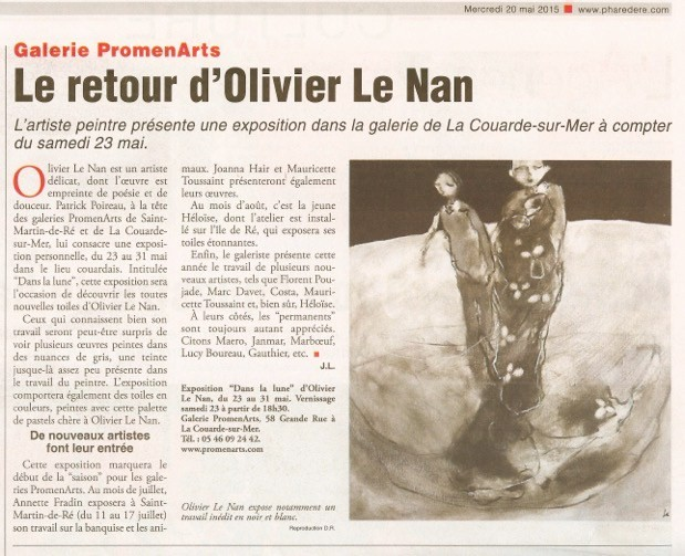 article Le phare de Ré Mai 2015
