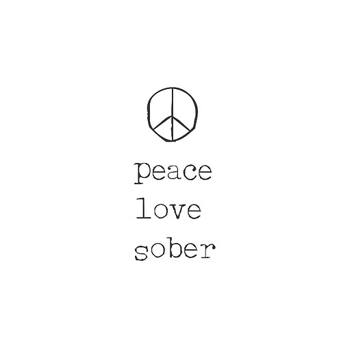Peace Love Sober Women's Tank