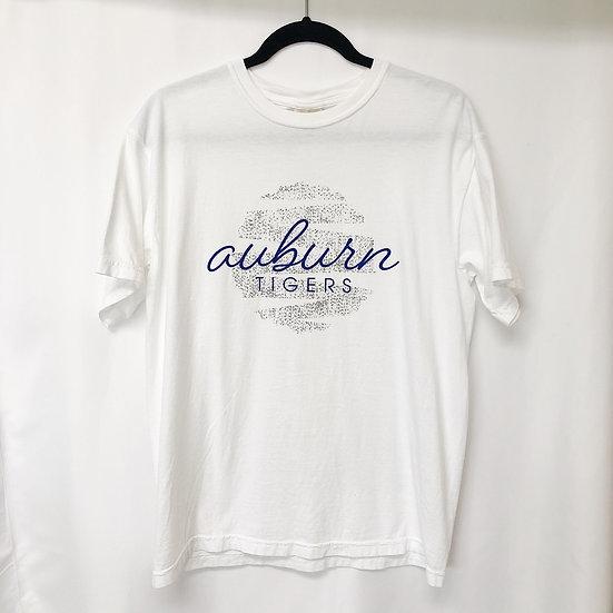 Auburn Tigers Striped Globe Tee